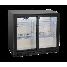Back Bar kjøleskap glassdør 197l.